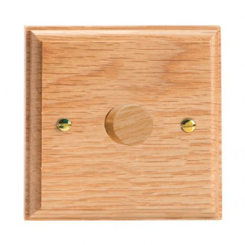 Varilight HK3O Kilnwood Oak 1 Gang 2-Way Push-On/Off Dimmer 60-400W V-Dim